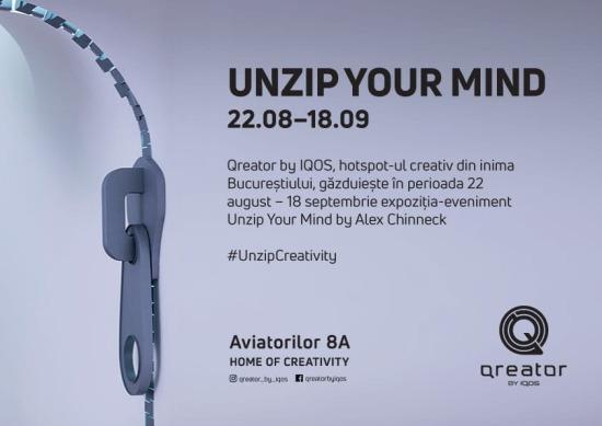 Unzip Your Mind – expoziția care a făcut furori la Milano Design Week vine la București, la Qreator by IQOS
