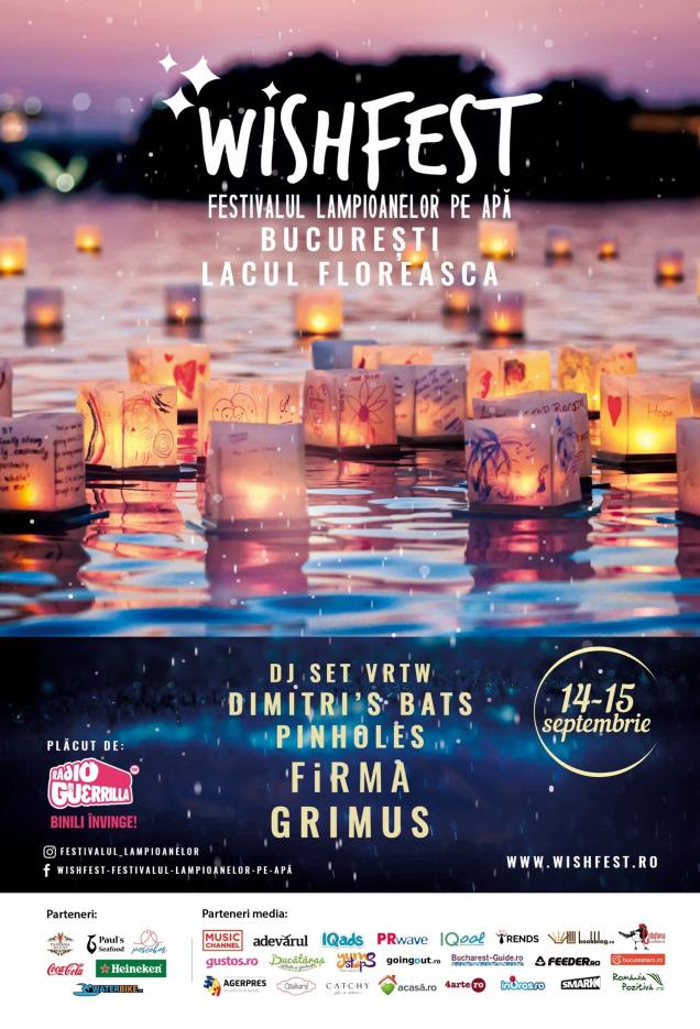 WishFest, primul festival dedicat lampioanelor pe apă, între 14 – 15 septembrie, în București