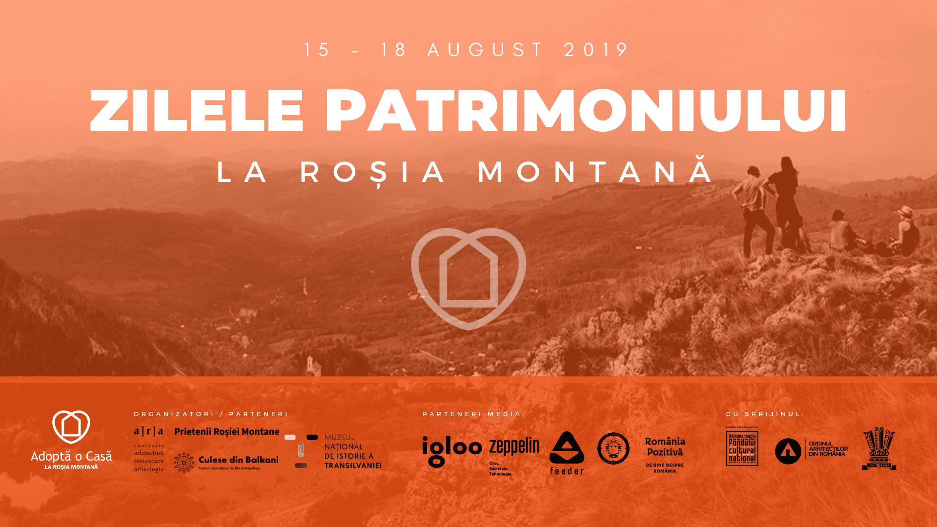 Zilele Patrimoniului la Roșia Montană, 15-18 august 2019