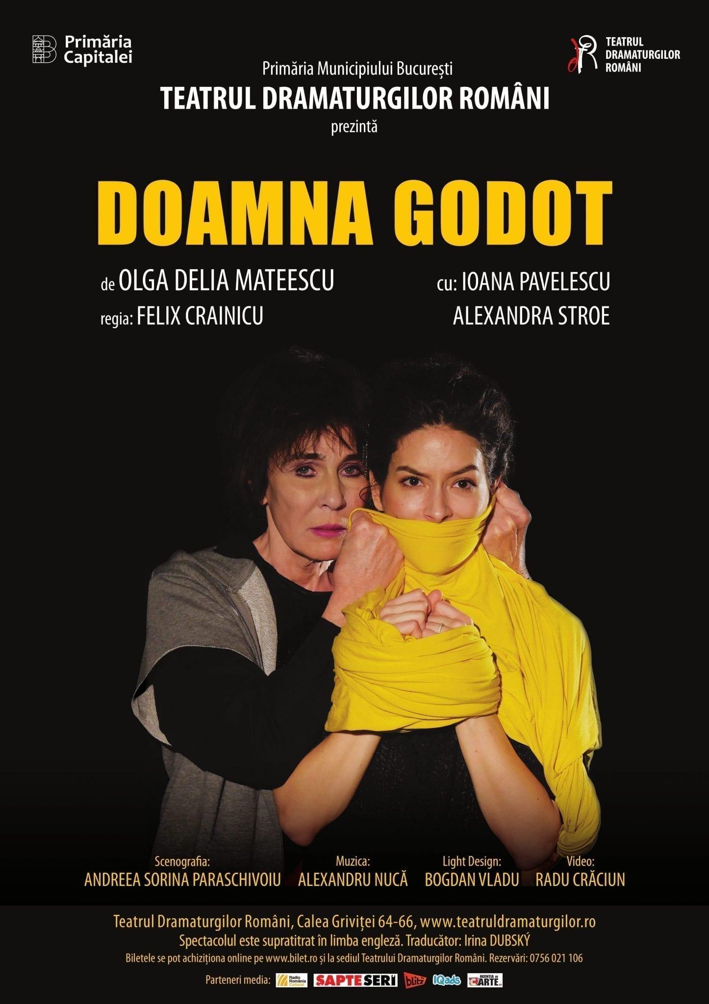 Teatrul Dramaturgilor Români prezintă DOAMNA GODOT
