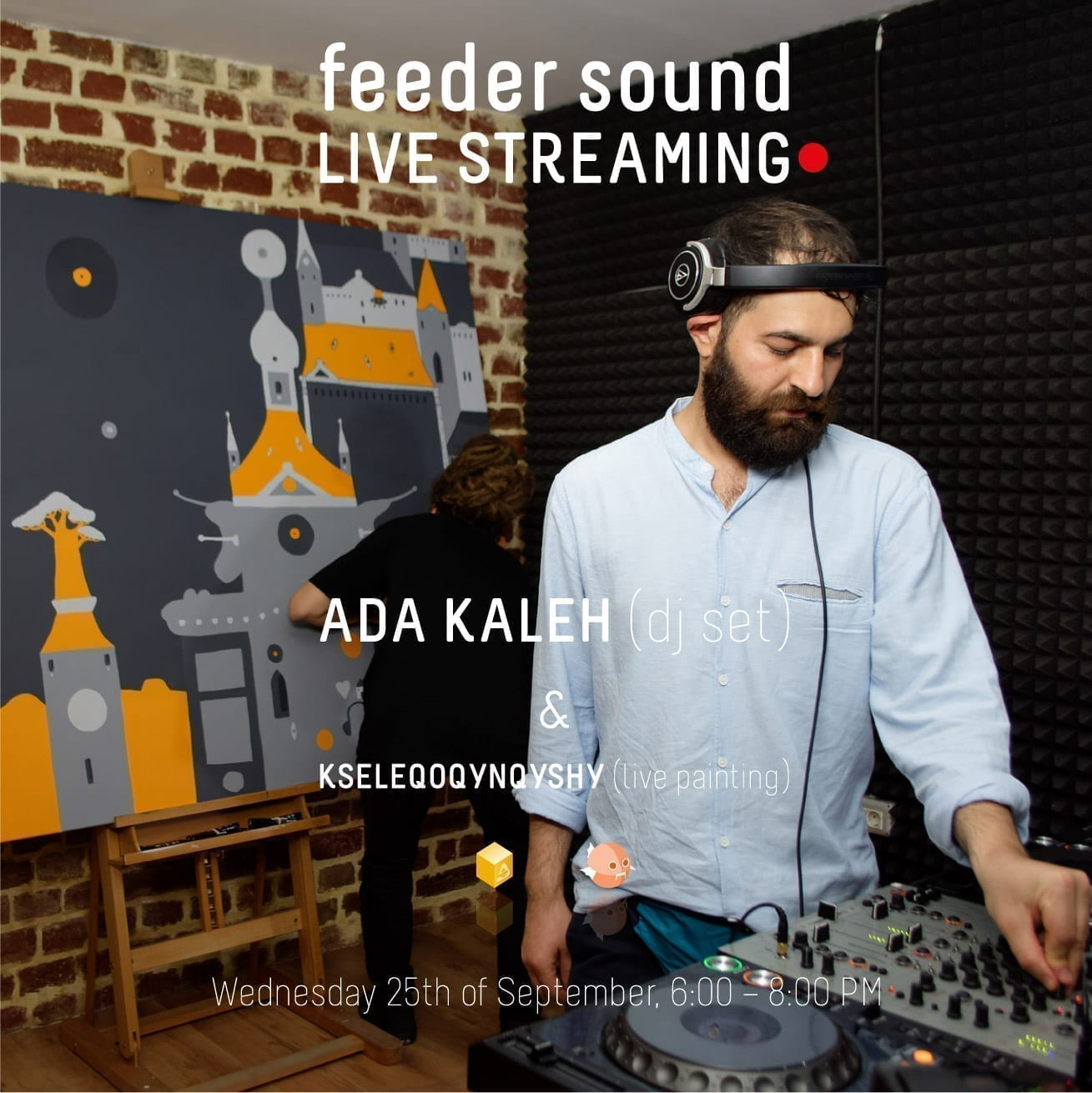 BTLT: feeder sound LIVE stream with ADA KALEH (dj set) & KSELEQOQYNQYSHY (live painting) [video]