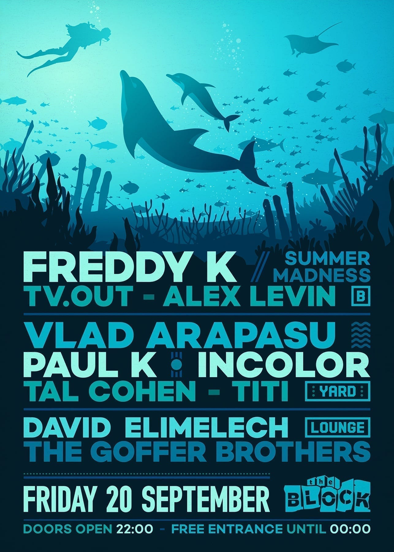 Friday 20.09 at The Block: Summer Madness: Paul K, Incolor Vlad Arapasu, Freddy K, TV.OUT