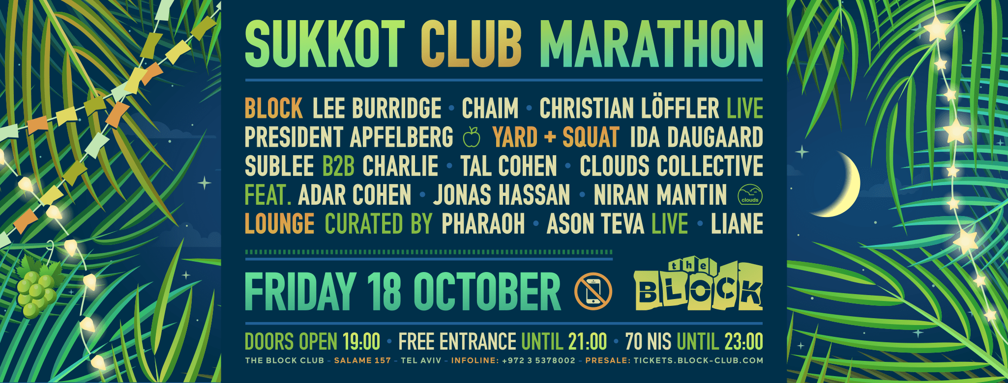 Sukkot 2019 Club Marathon at The Block