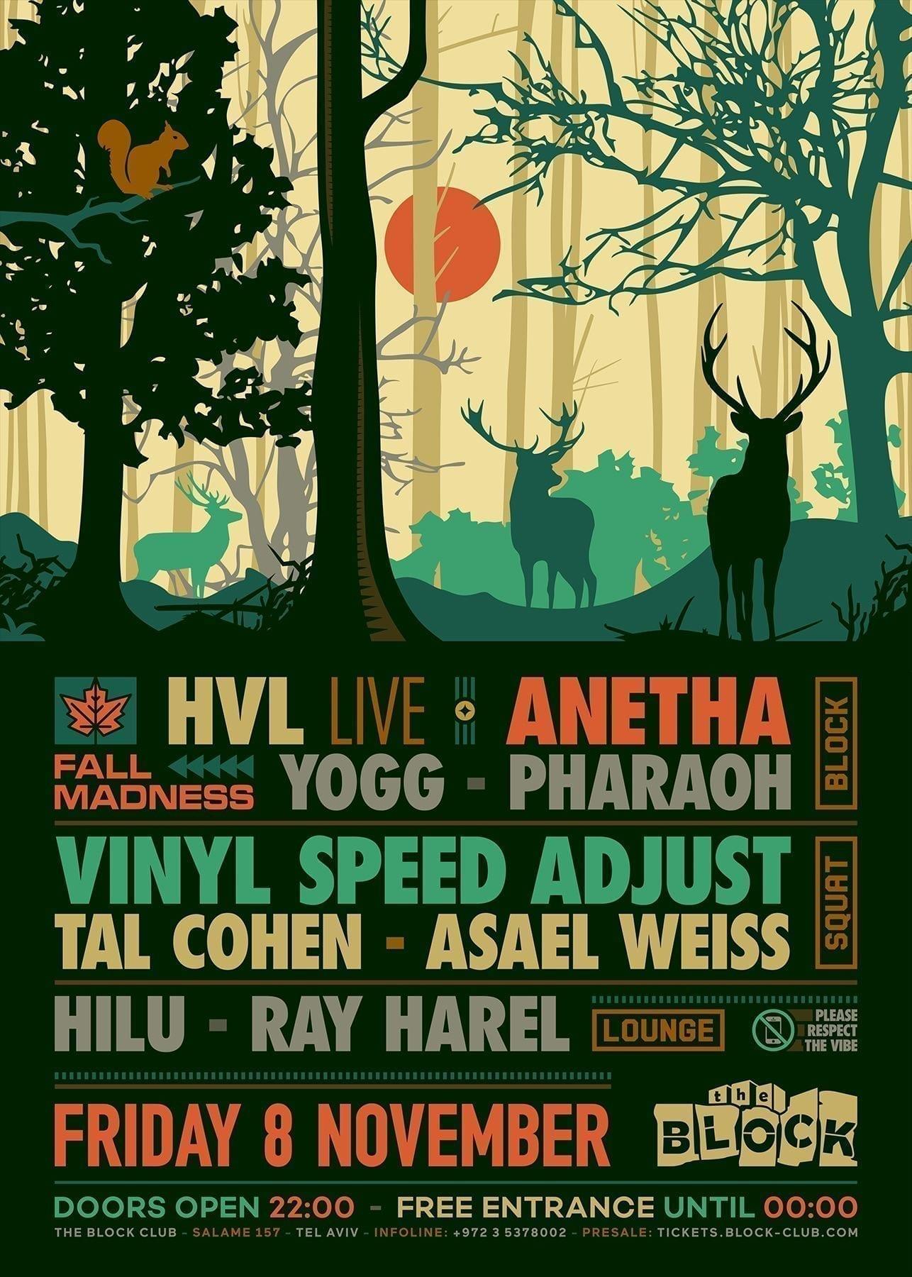 Block Fall Madness Anetha, HVL Live, Vinyl Speed Adjust