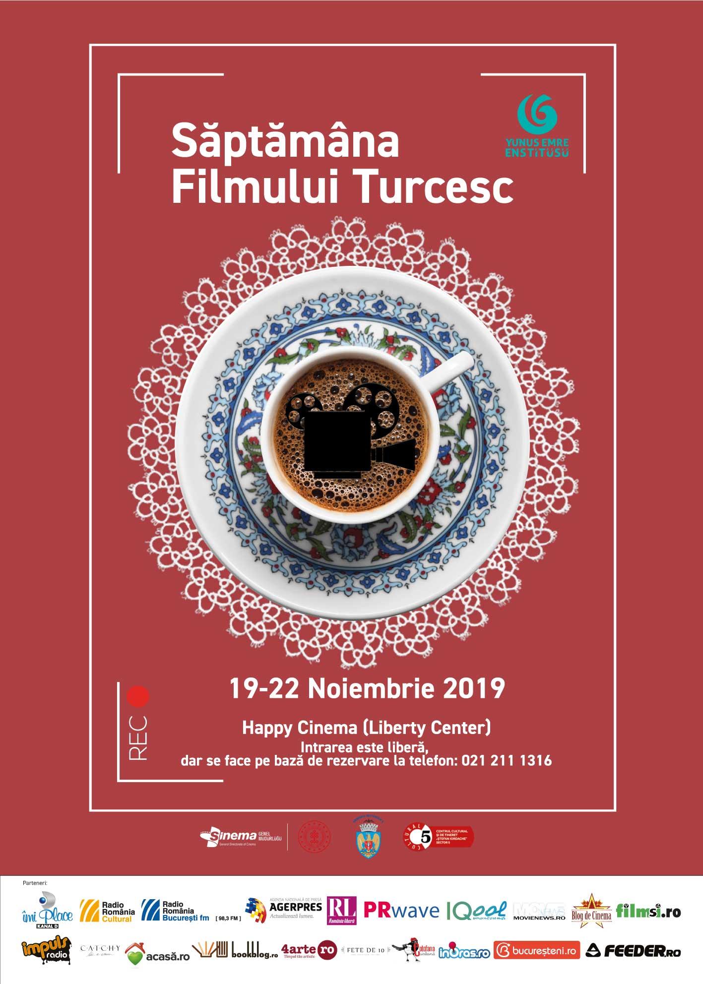 Săptămâna Filmului Turcesc la București, între 19 – 22 noiembrie