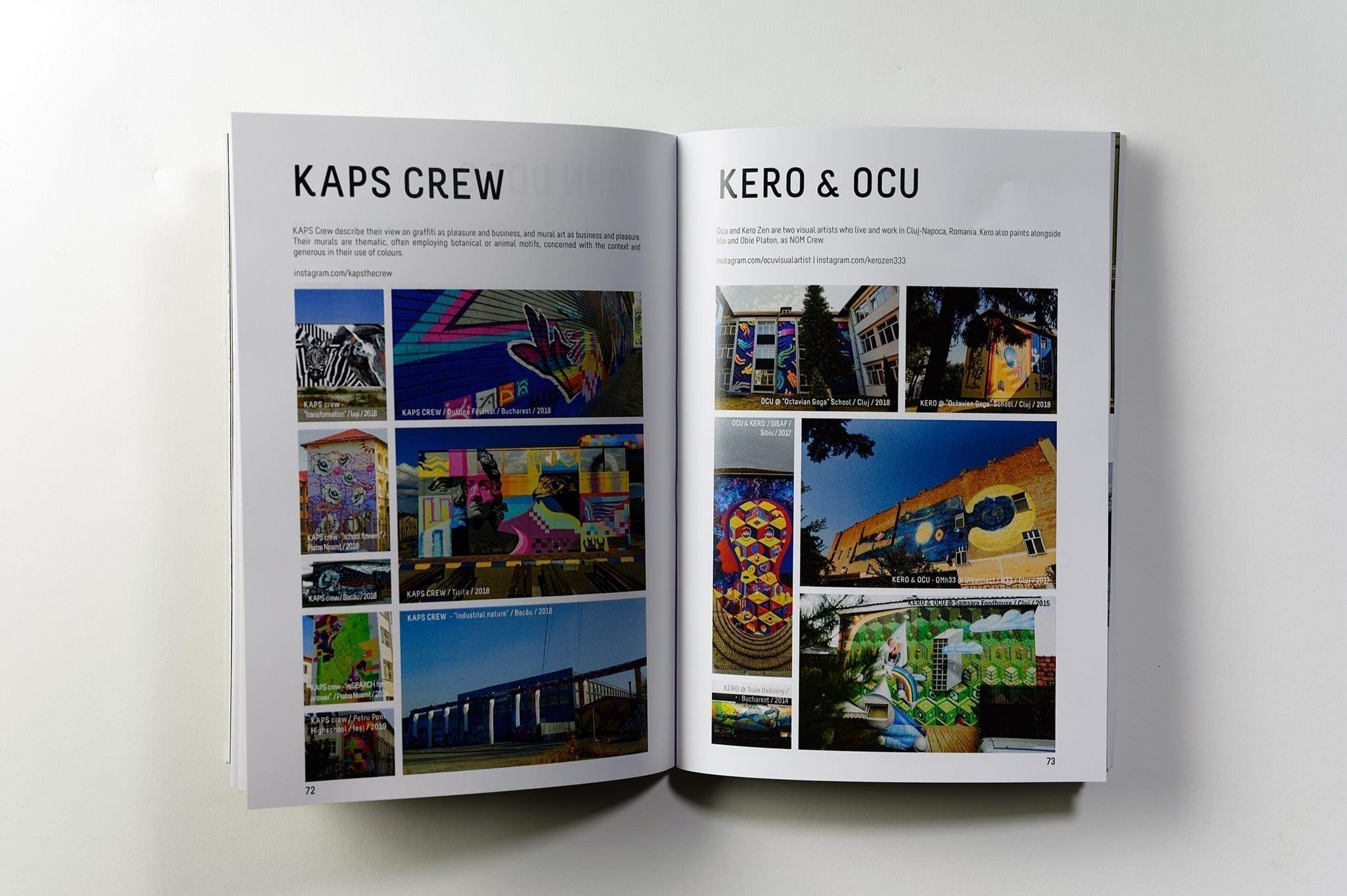 Un-hidden Street Art in Romania Book -Kaps Crew / Kero & Ocu pages