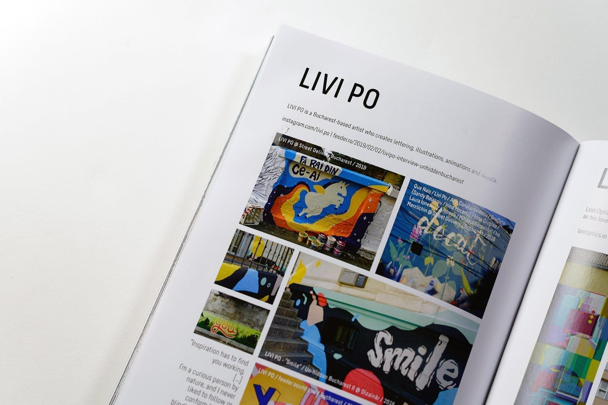 Un-hidden Street Art in Romania Book - Livi Po page