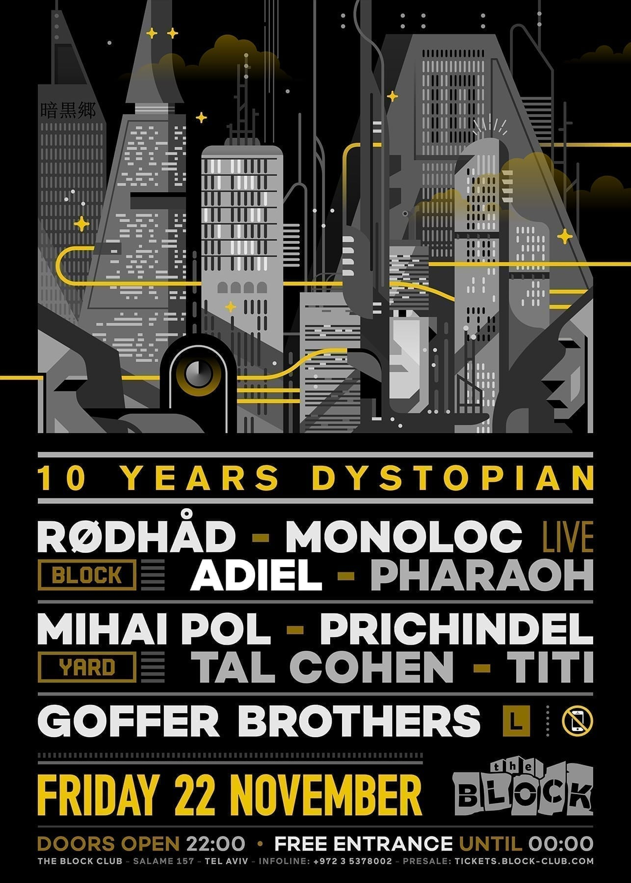 Ten Years Dystopian - Friday at the Dark Side of Town @ The Blcok