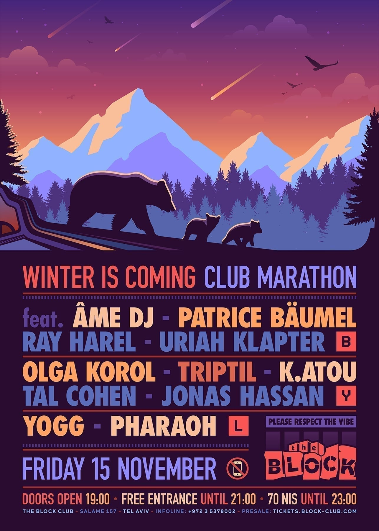 Winter Is Coming Club Marathon at The Block Feat. AME DJ, Patrice Bäumel, K.atou, Triptil, Olga Korol