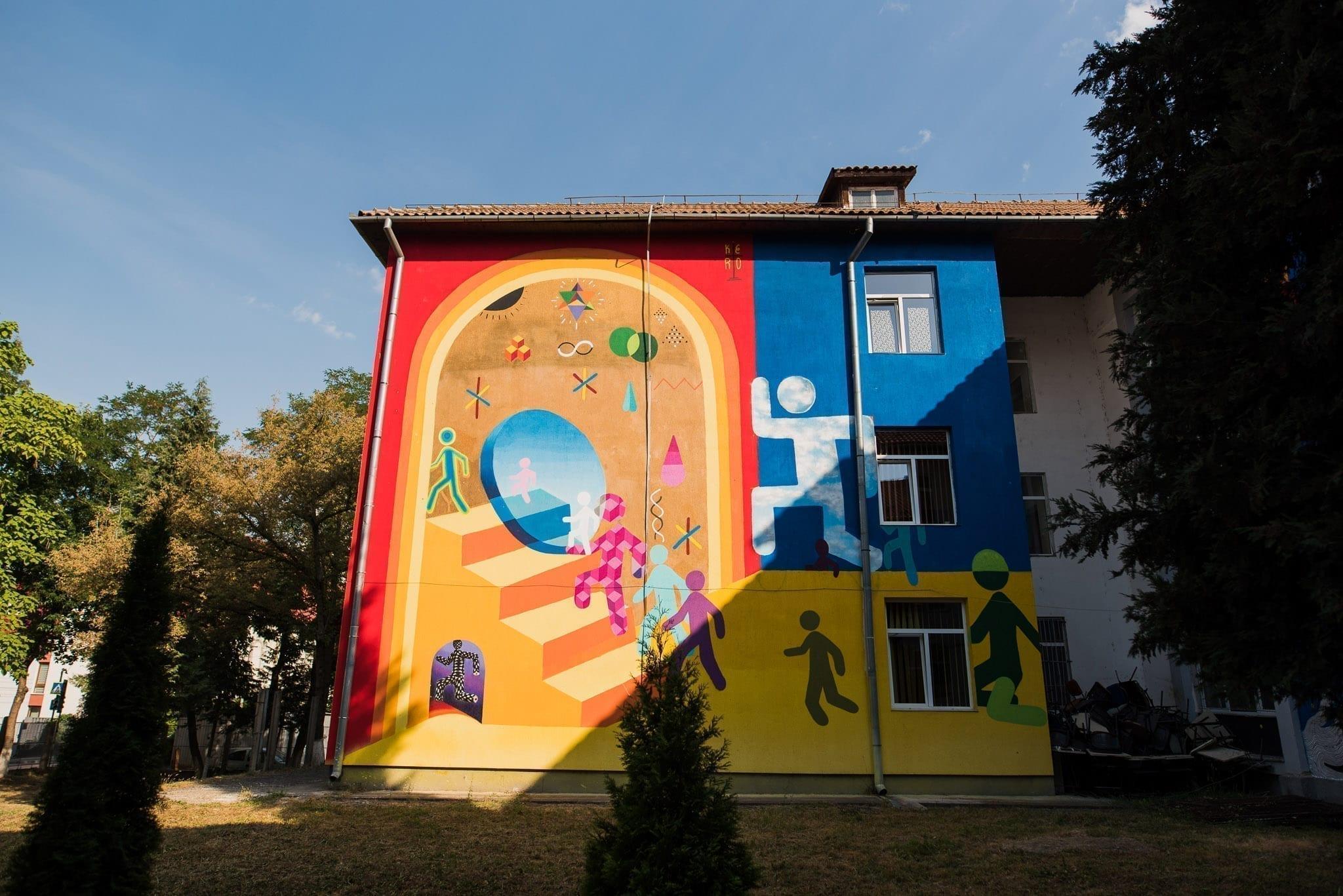 KERO Școala Gimnazială Octavian Goga Cluj Un-hidden Street Art in Romania book photo © Anita Jimbor, Un-hidden Romania