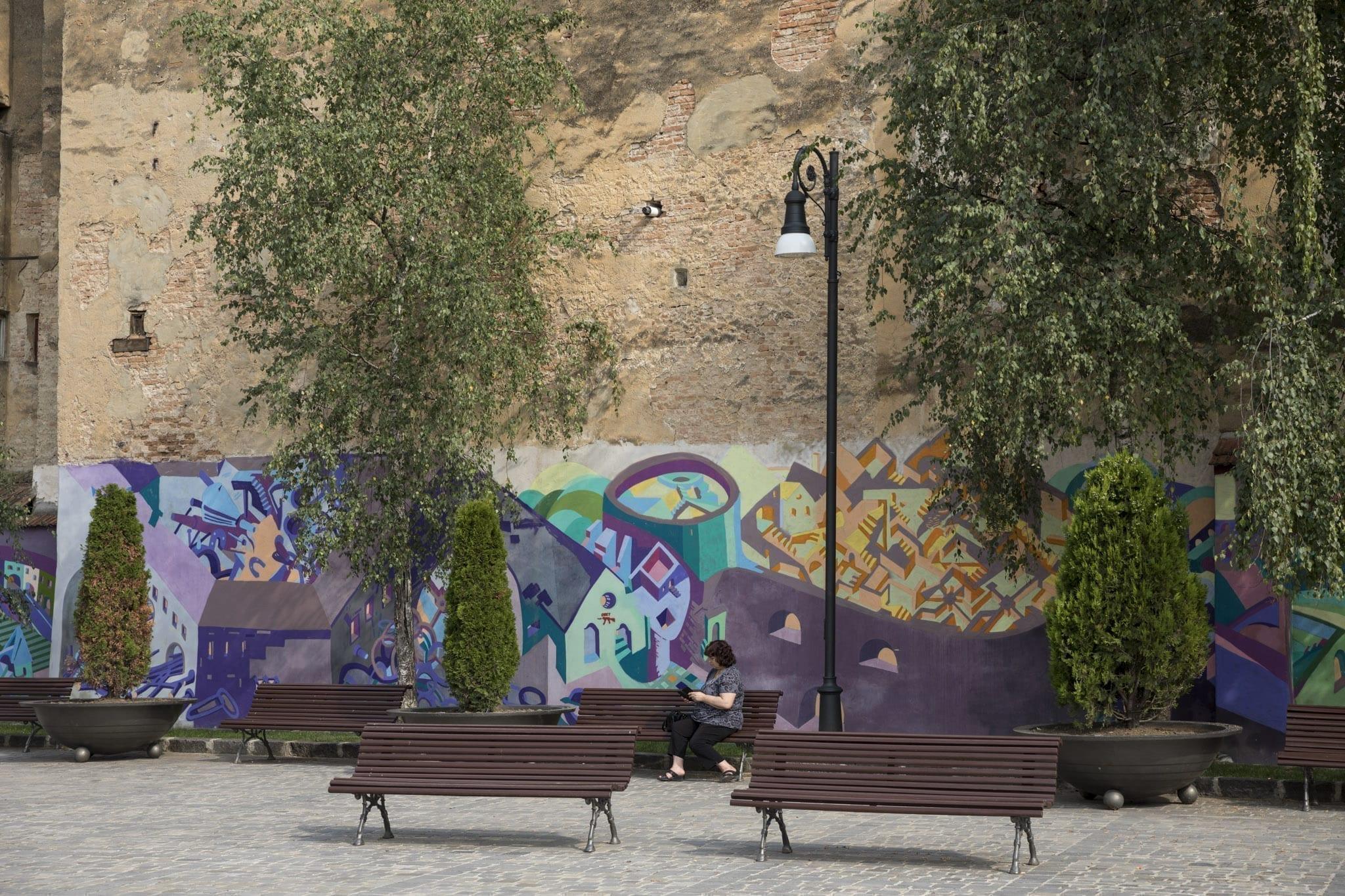 LUCIAN SANDU MILEA & ANA TOMA, KORTE / 2017 Brasov Un-hidden street art in Romania