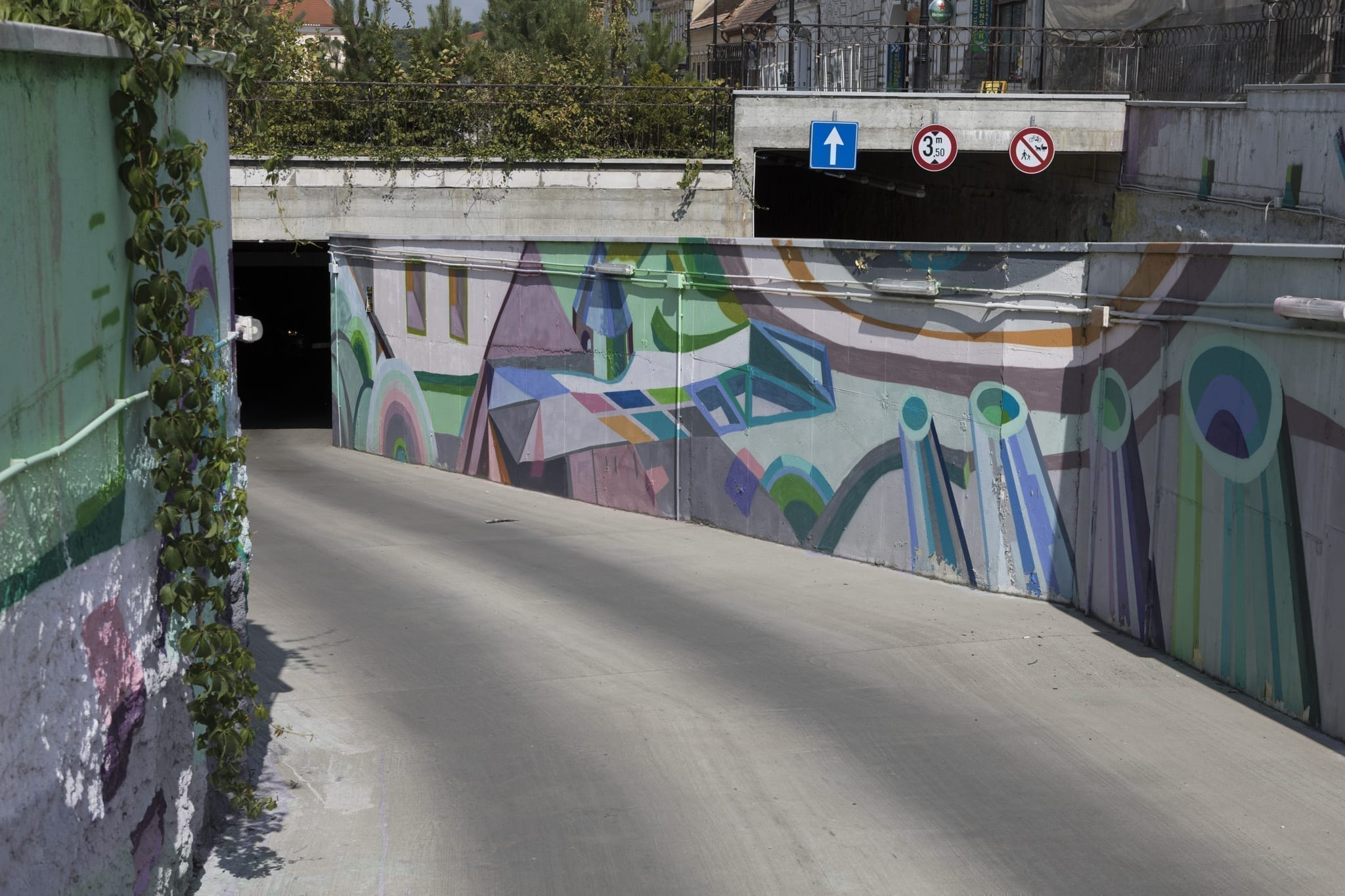 LUCIAN SANDU MILEA & ANA TOMA, PETAL 2018 Rasnov Brasov Un-hidden street art in Romania