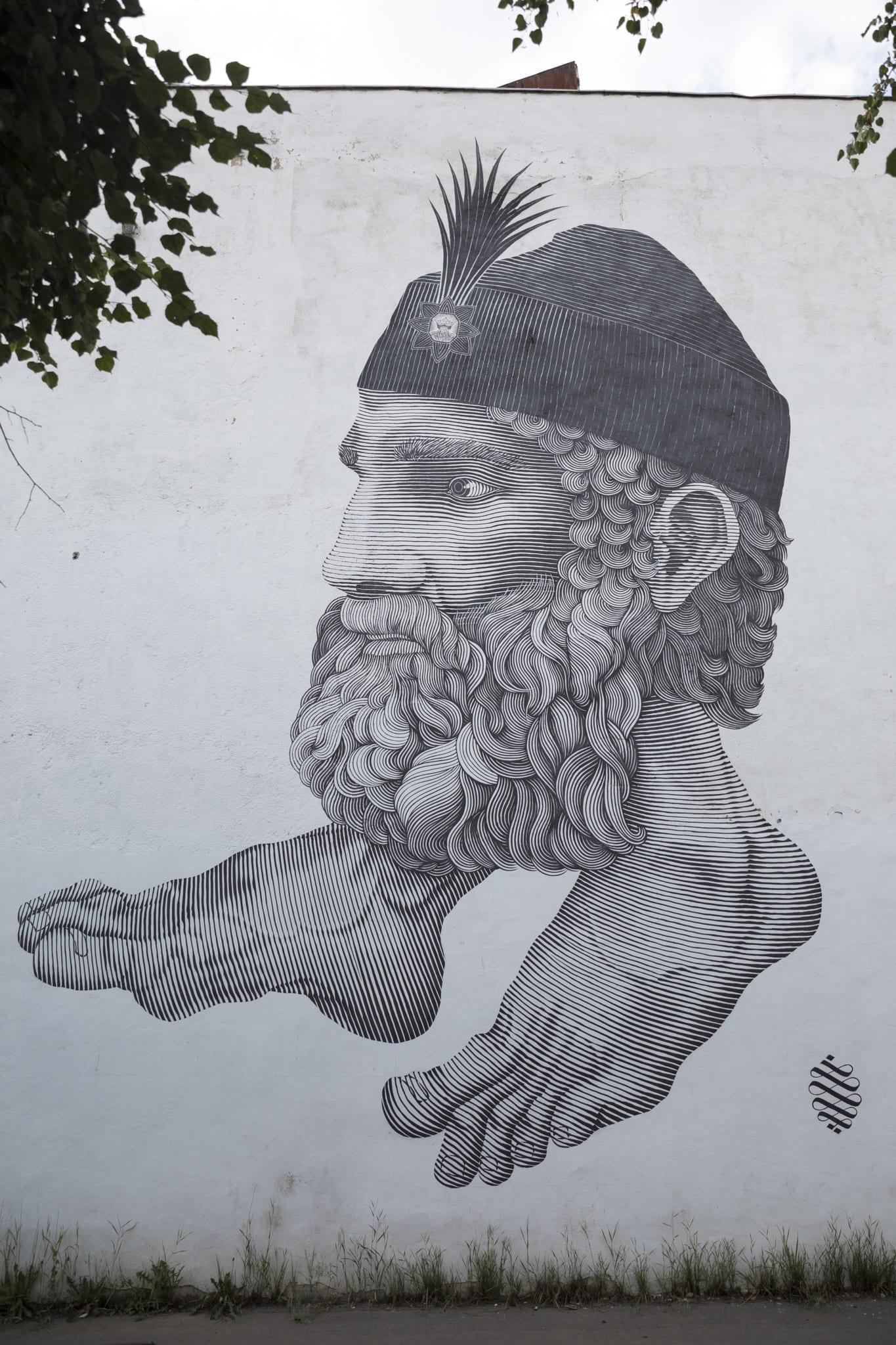 NICOLÁS SÁNCHEZ ALFALFA (n. Venezuela / Uruguay) / 2018 Brasov Un-hidden street art in Romania