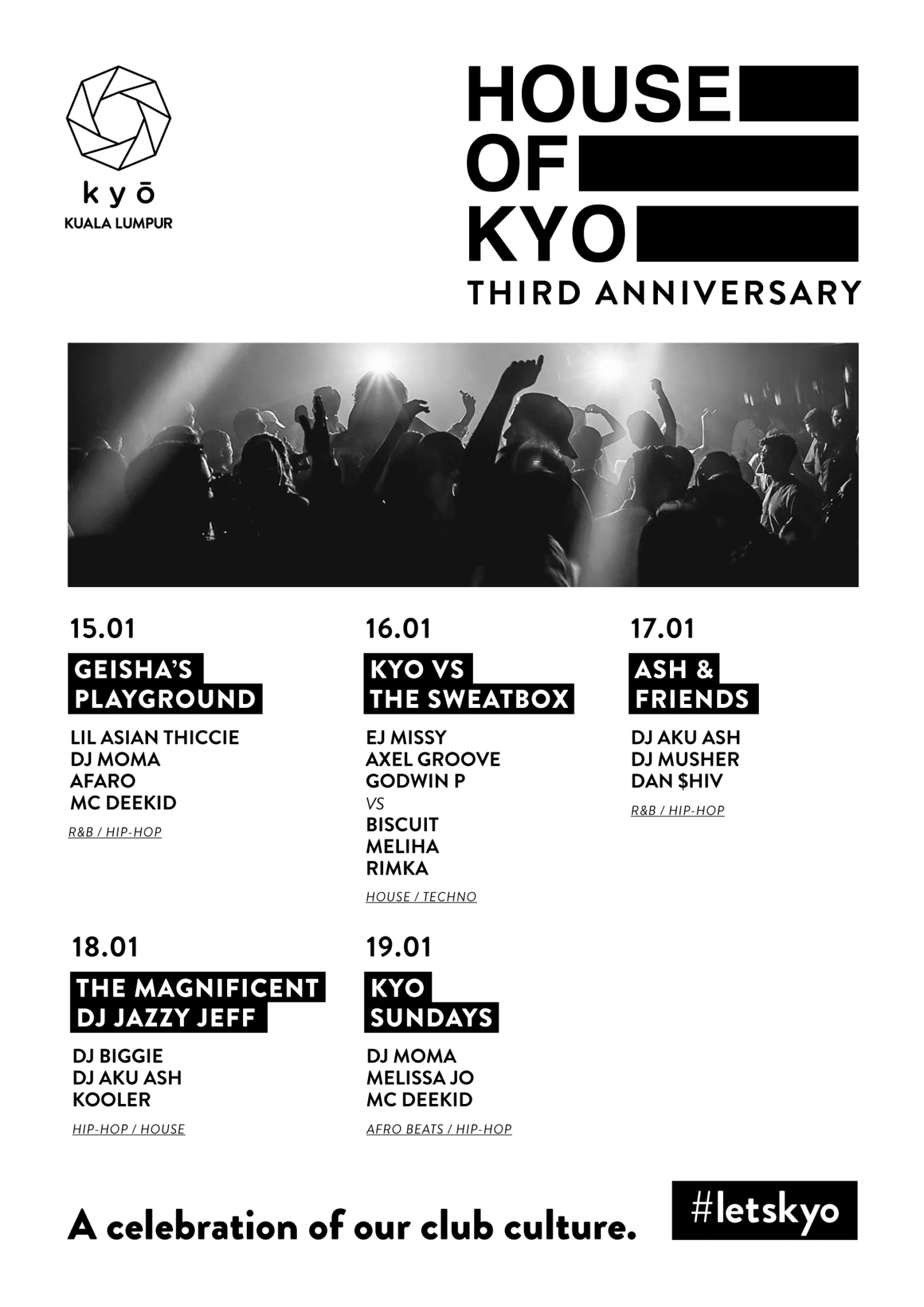 Kyo Kuala Lumpur Turns 3 with week of celebrations including big party with Jazzy Jeff