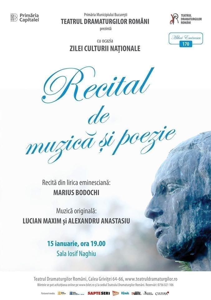 RECITAL DE MUZICĂ & POEZIE - ZIUA CULTURII NAȚIONALE