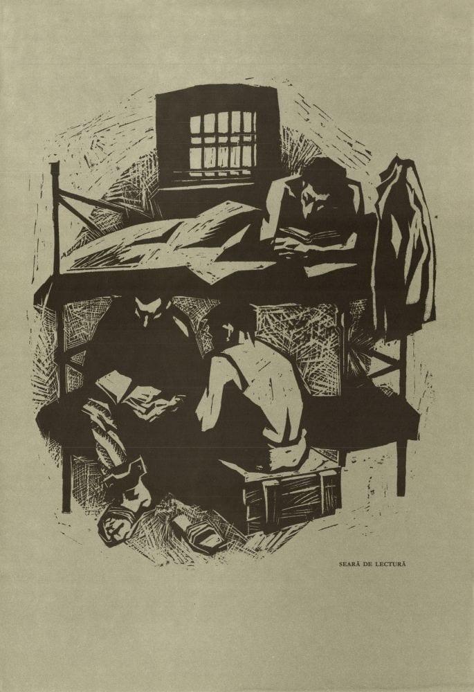 Ilie Schon - Reading Evening 1970 limited propaganda edition 48×33-cm
