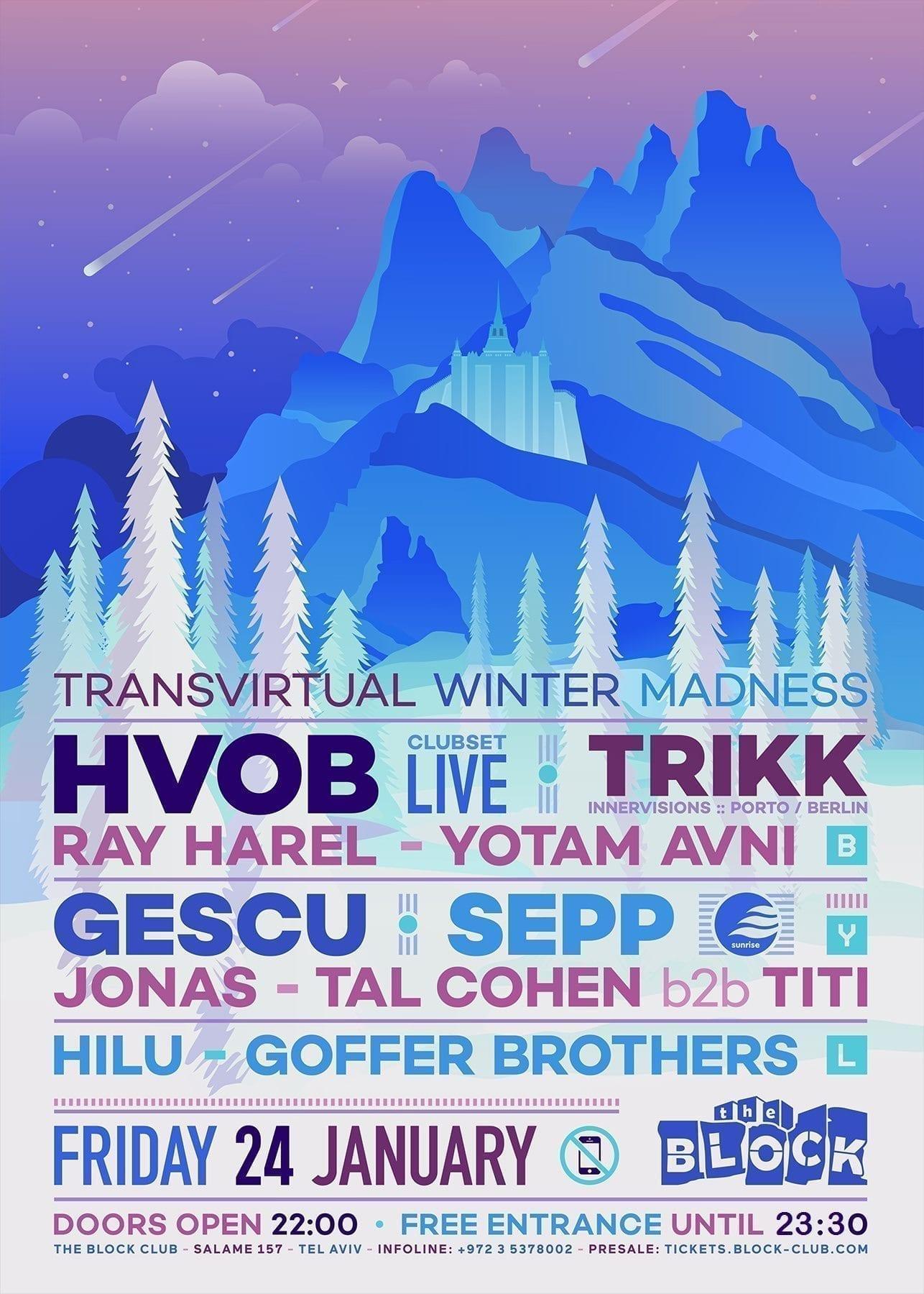Transvirtual Opening Party: HVOB, Trikk, Sepp, Gescu