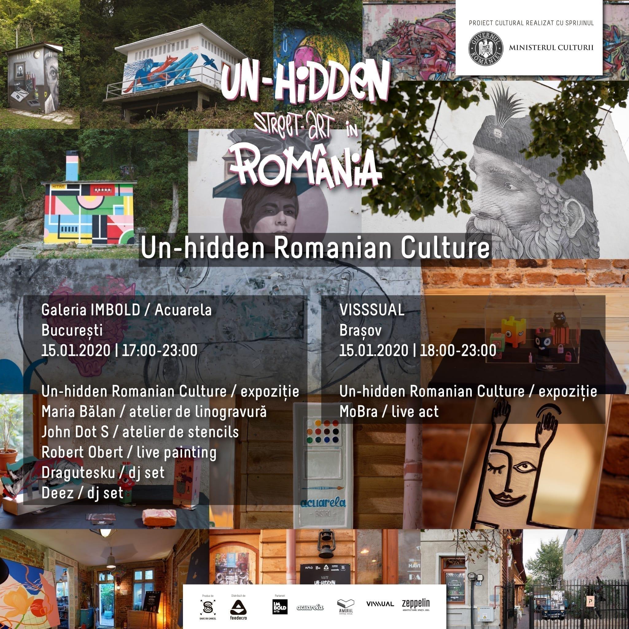 Cu ocazia Zilei Culturii Naționale poți vizitaexpoziția Un-hidden Romanian Culture în București și Brașov