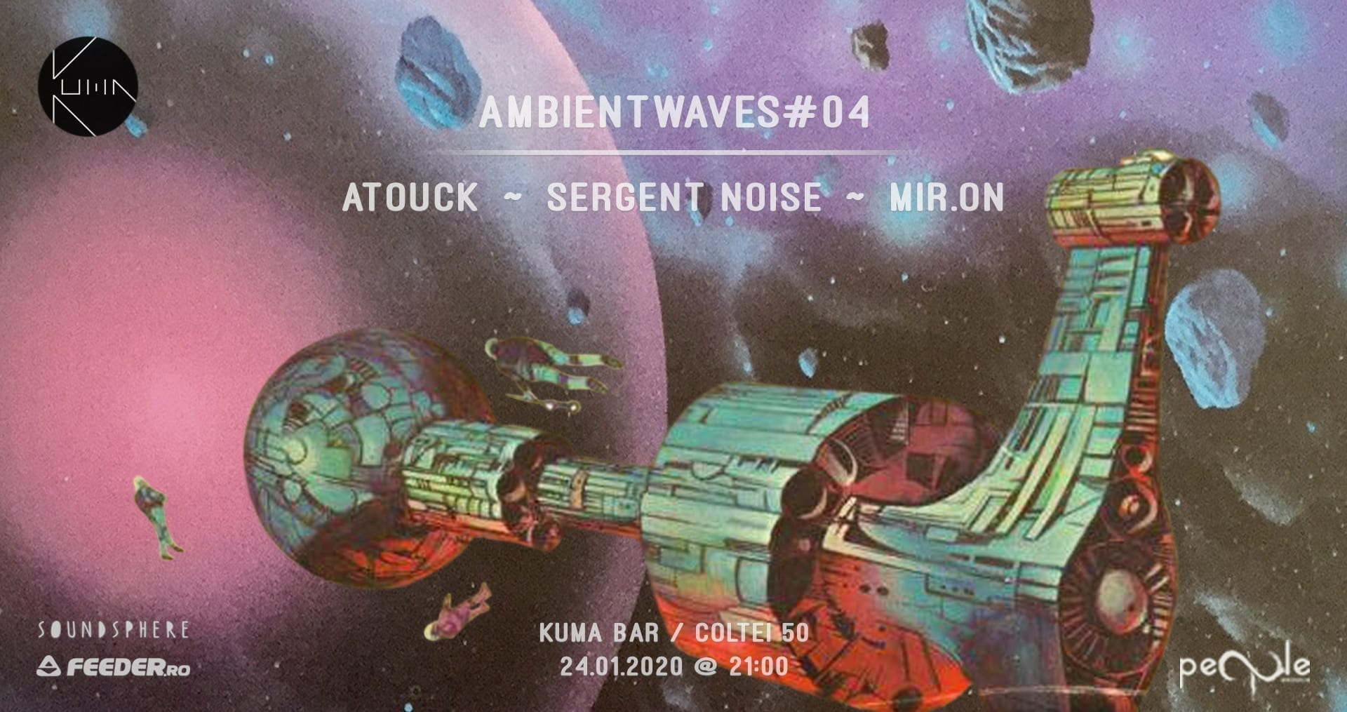 Ambientwaves#04 w. Atouck, mir.ON & Sergent Noise at Kuma Bar