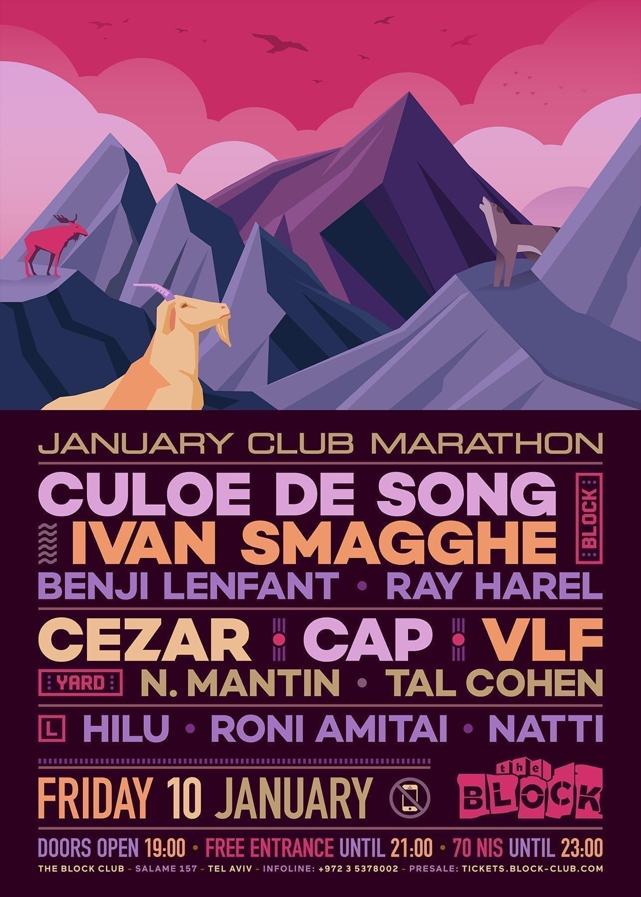 January Club Marathon at The Block w/ Vlf, Cap, Cezar, Benji & more