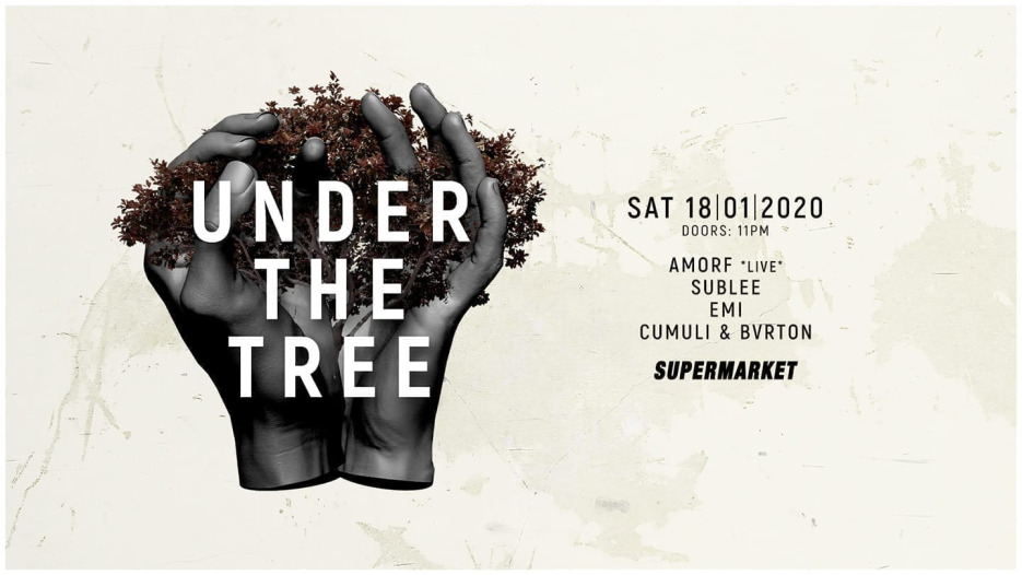 under the tree w/ Amorf, Sublee and Emi @ Supermarket