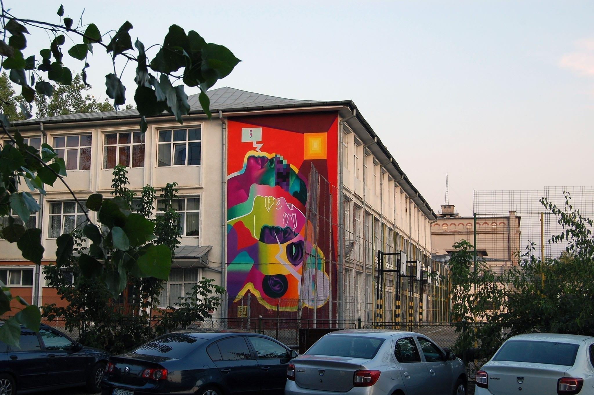 KAPS crew / 2019 @Liceul Tehnologic Petru Poni / Un-hidden street art in Romania book art files: IAȘI