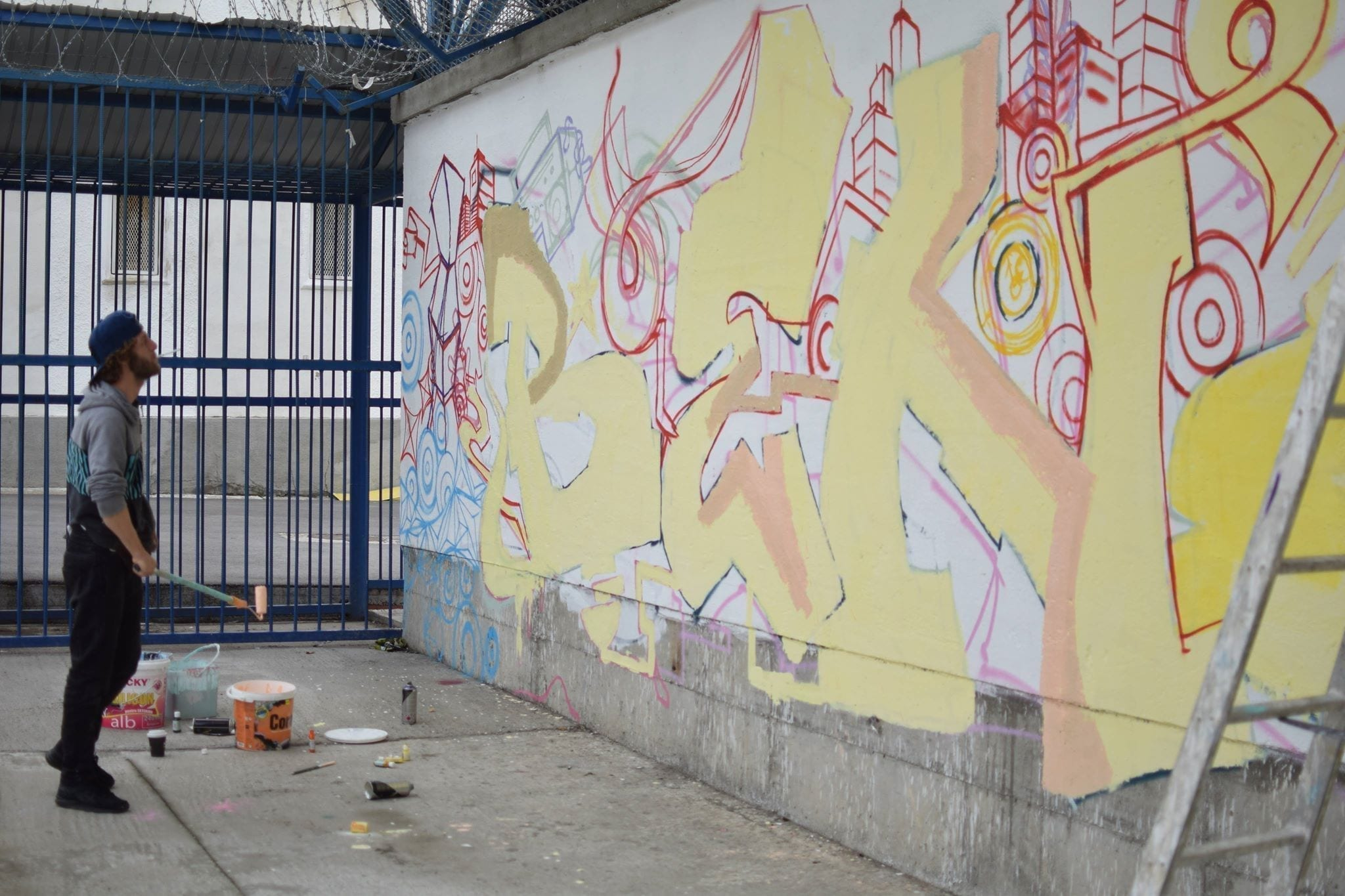 Beno Street Delivery penitenciarul Iași 2018 Un-hidden street art in Romania book art files