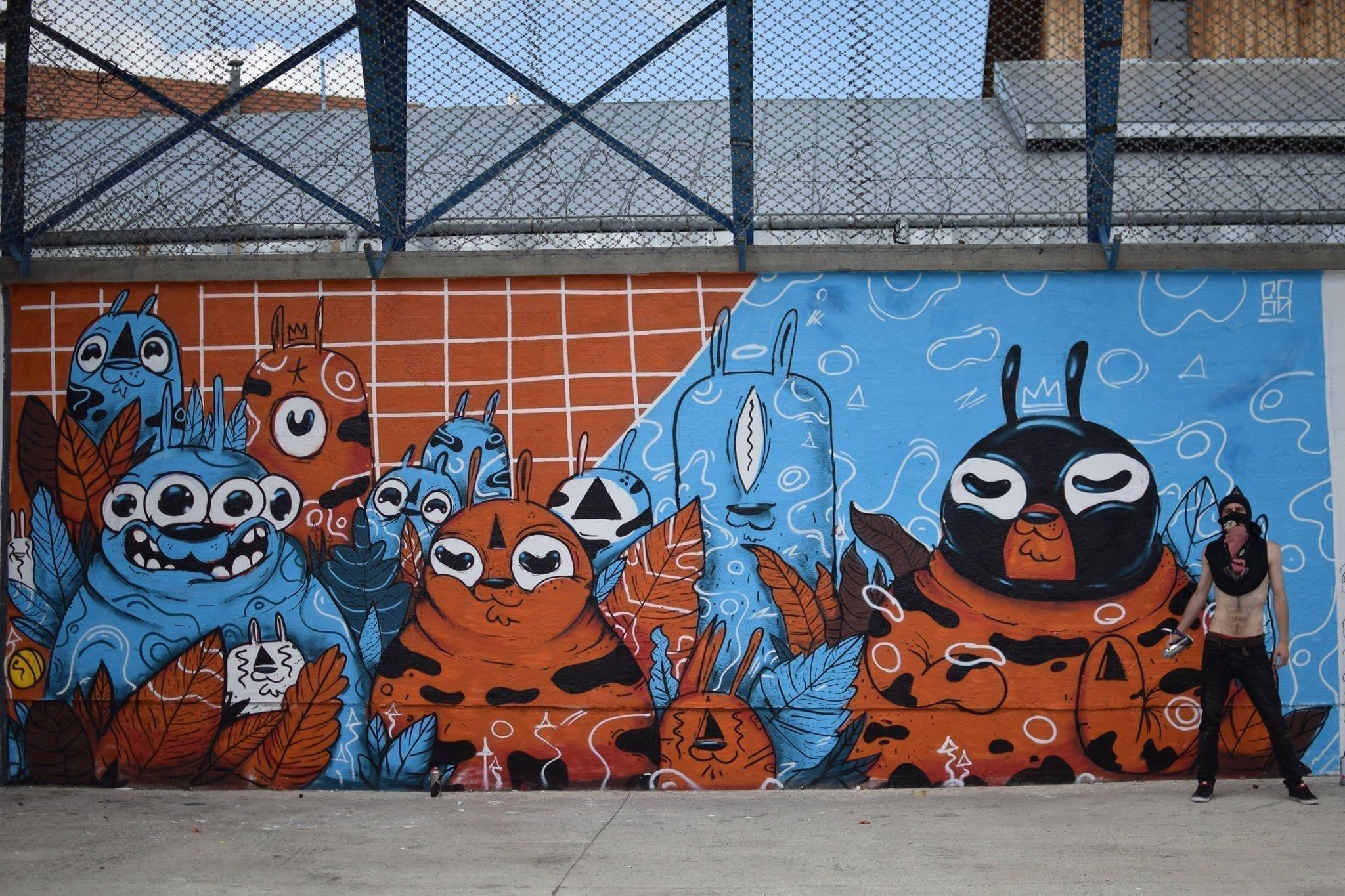 Coon One Street Delivery penitenciarul Iași 2018 Un-hidden street art in Romania book art files