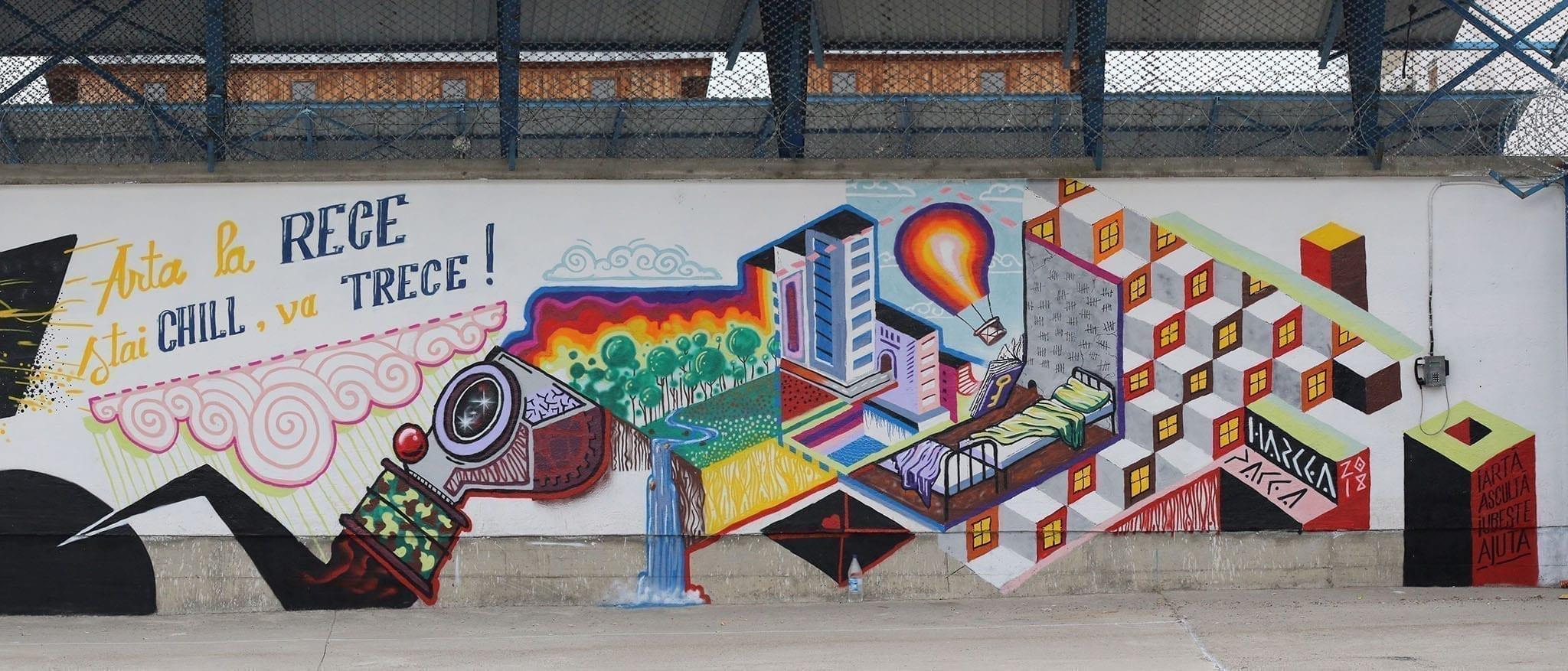 HarceaPacea Street Delivery penitenciarul Iași 2018 Un-hidden street art in Romania book art files