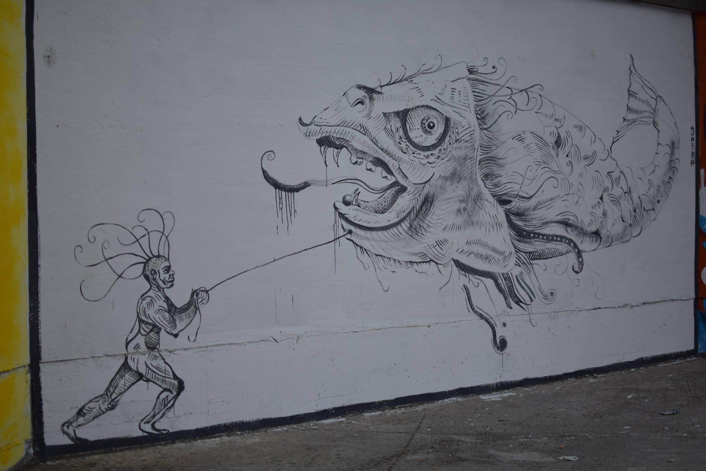 Jabra22 Street Delivery penitenciarul Iași 2018 Un-hidden street art in Romania book art files