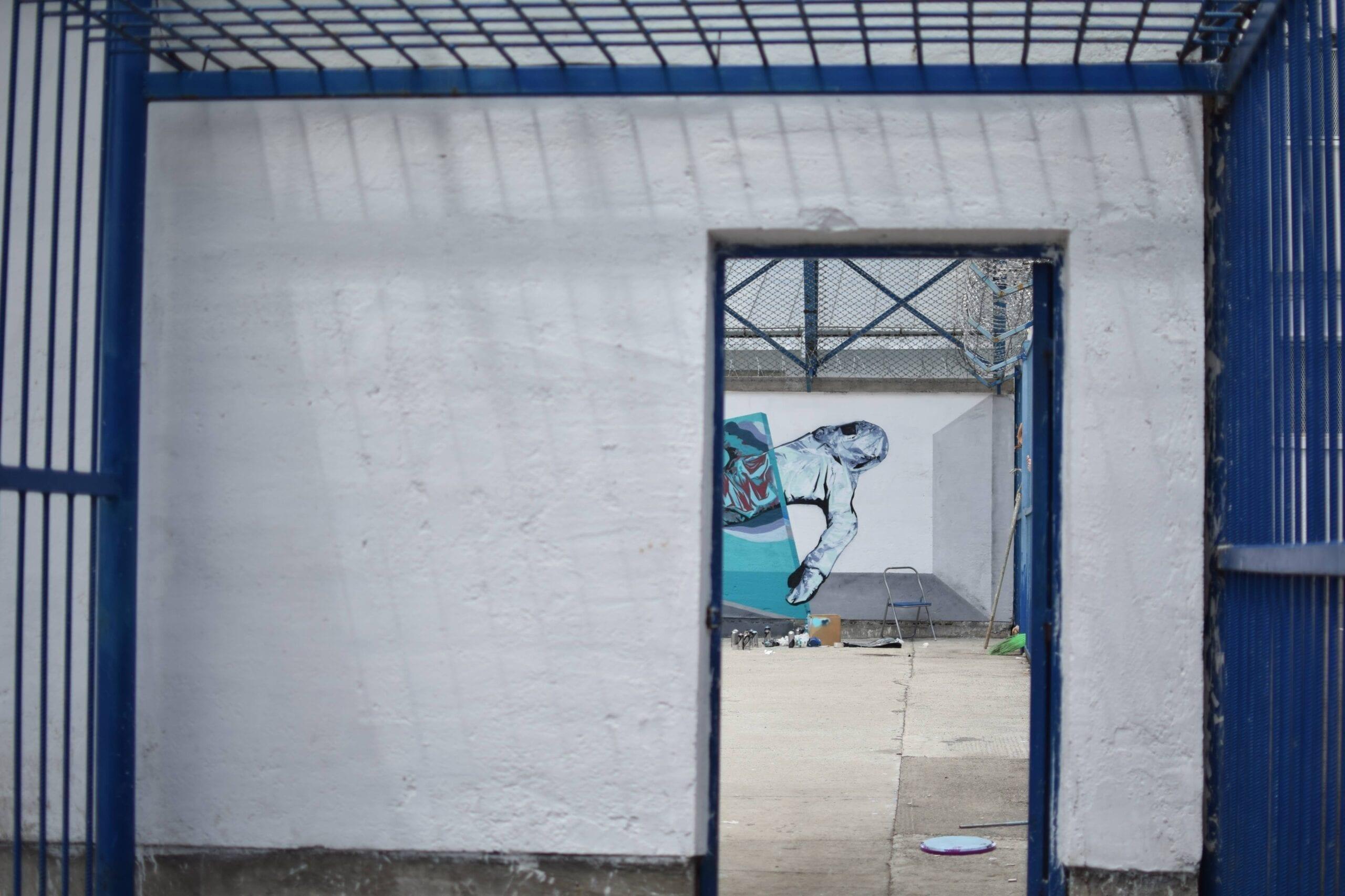 John Dot S. Street Delivery penitenciarul Iași 2018 Un-hidden street art in Romania book art files