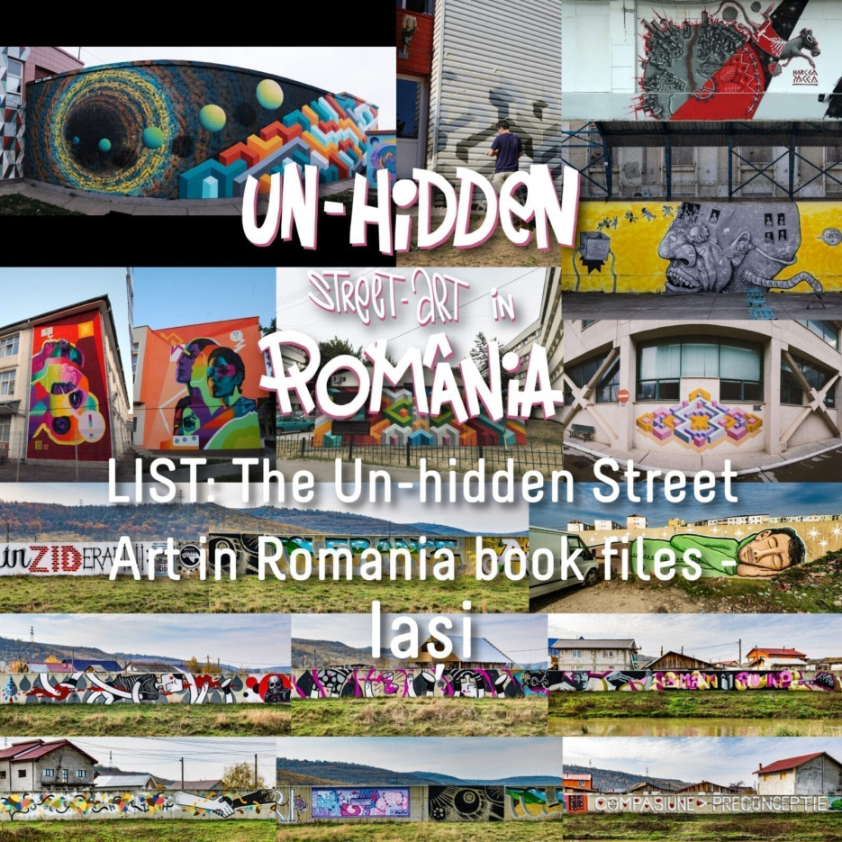 LIST: The Un-hidden Street Art in Romania book files - Iași / Jassy / Iassy