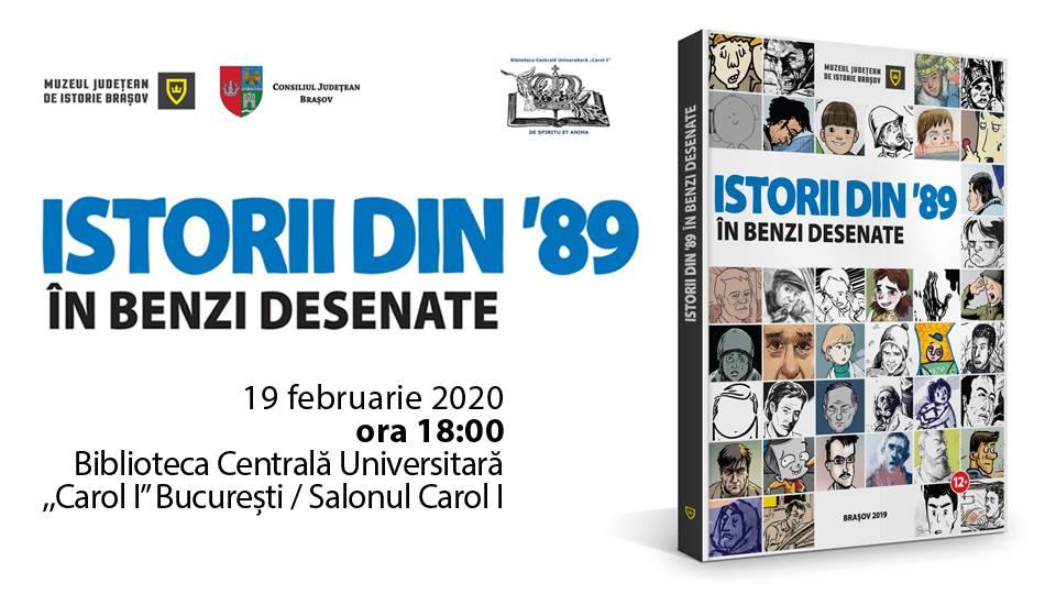 """Lansare album: ,,Istorii din '89 în benzi desenate"""" în București"""