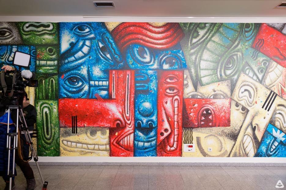 Pisica Patrata mural at Cervantes