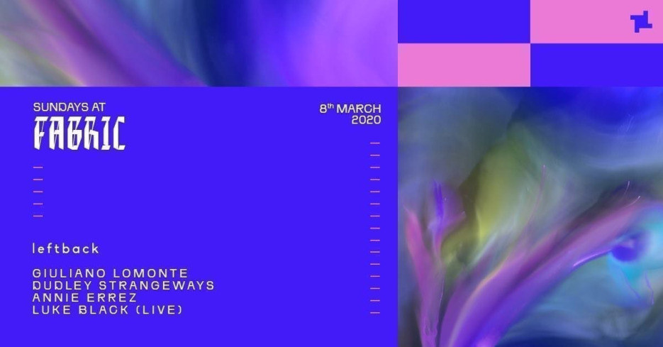 Sundays at fabric: Leftback