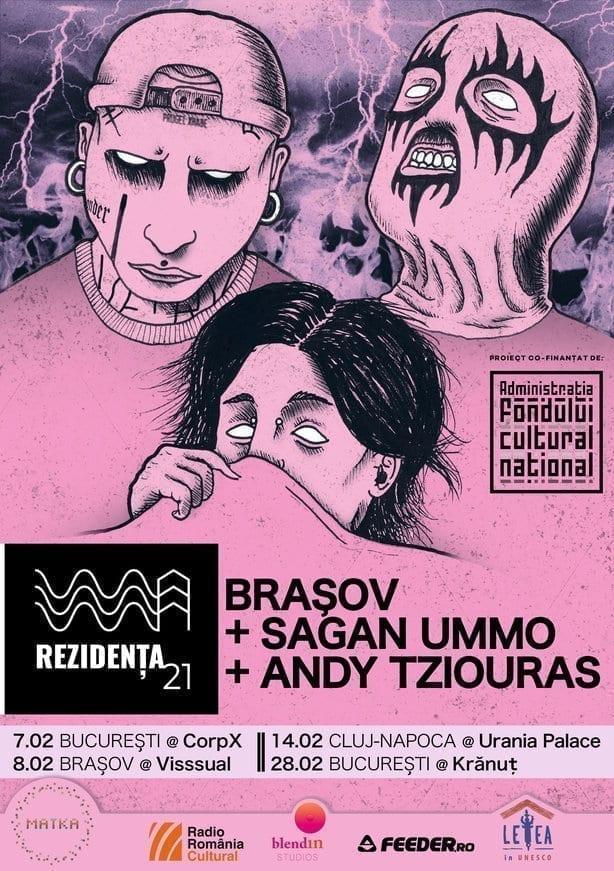 Rezidența21 | Concerte BRAȘOV x Sagan UMMO x Andy Tziouras în Brașov, Cluj-Napoca și București