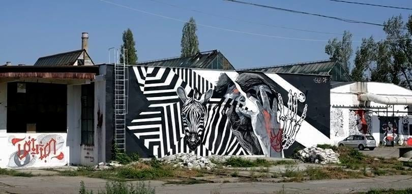 "KAPS crew - ""transformation"" / 2018 / / Un-hidden street art in Romania book art files: IAȘI"