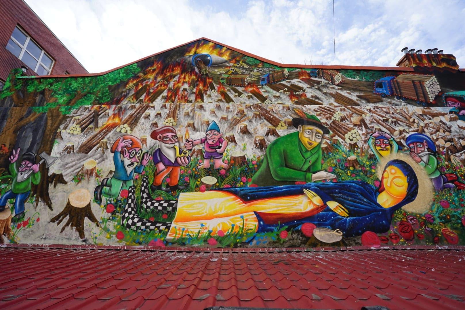 2020 Irlo & Kero NOM crew mural Bucharest