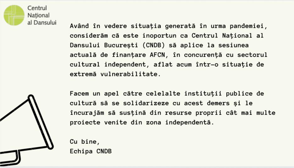 CNDB NU APLICĂ LA AFCN