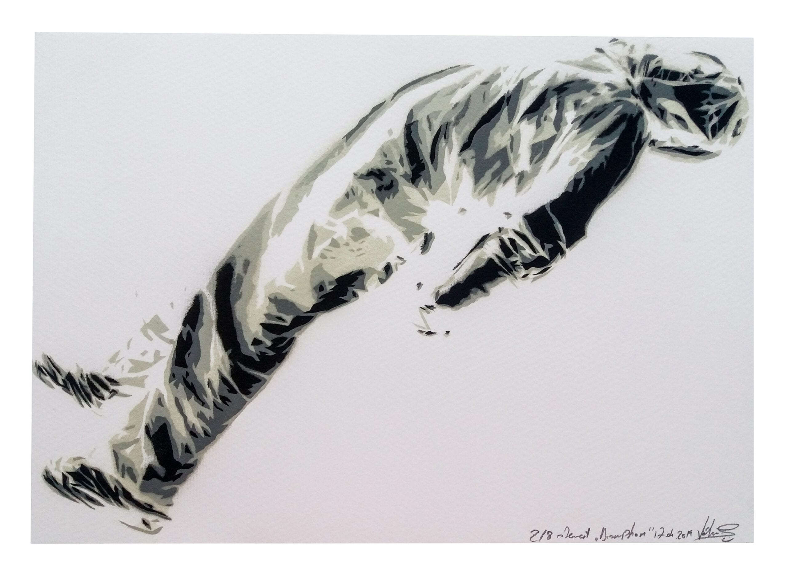 John Dot S disruption-25x36cm-spray on paper
