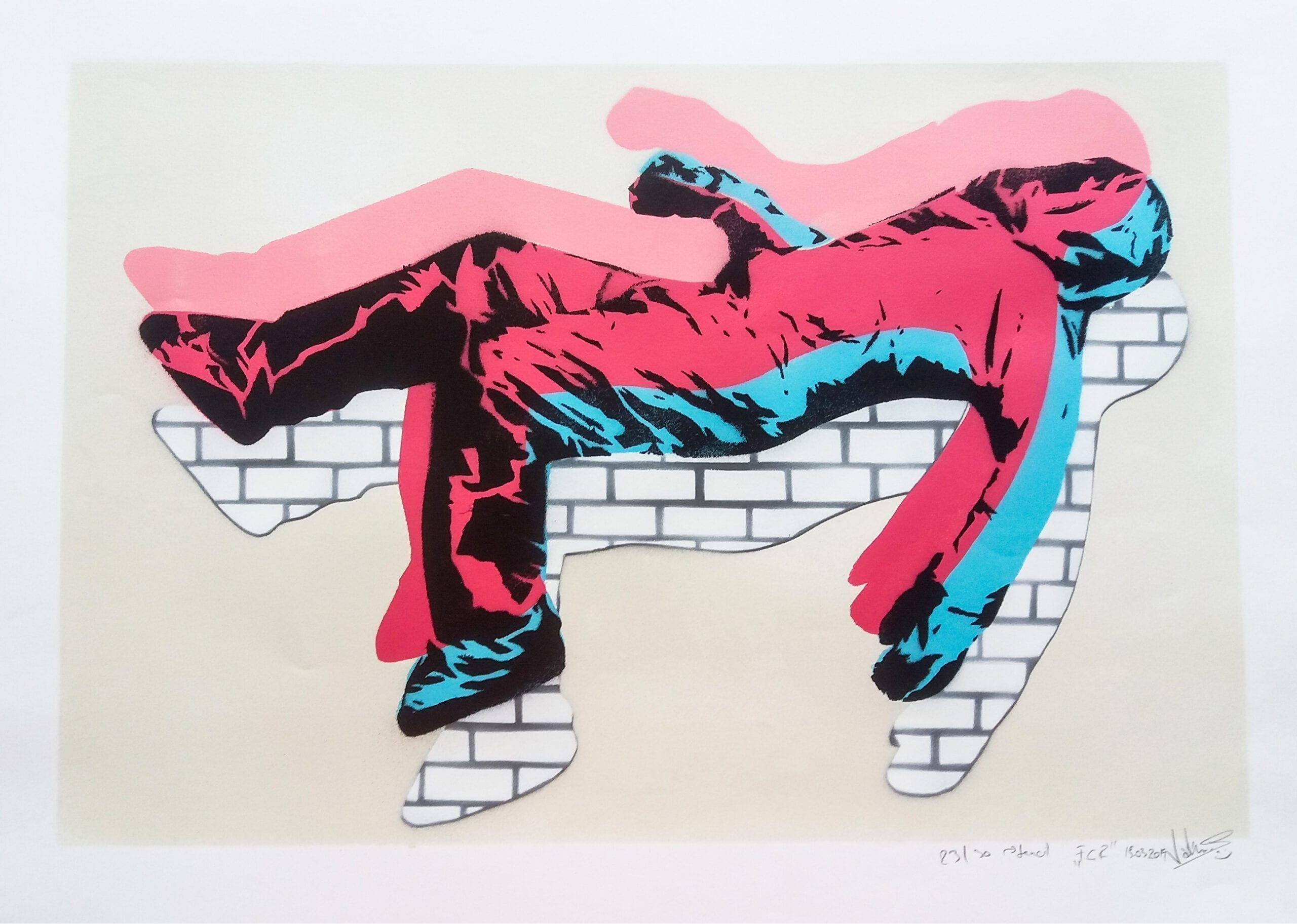 John Dot S reab-echi-ili-bru-tare-limited edition of 30(22buc)-35x50cm-spray on paper