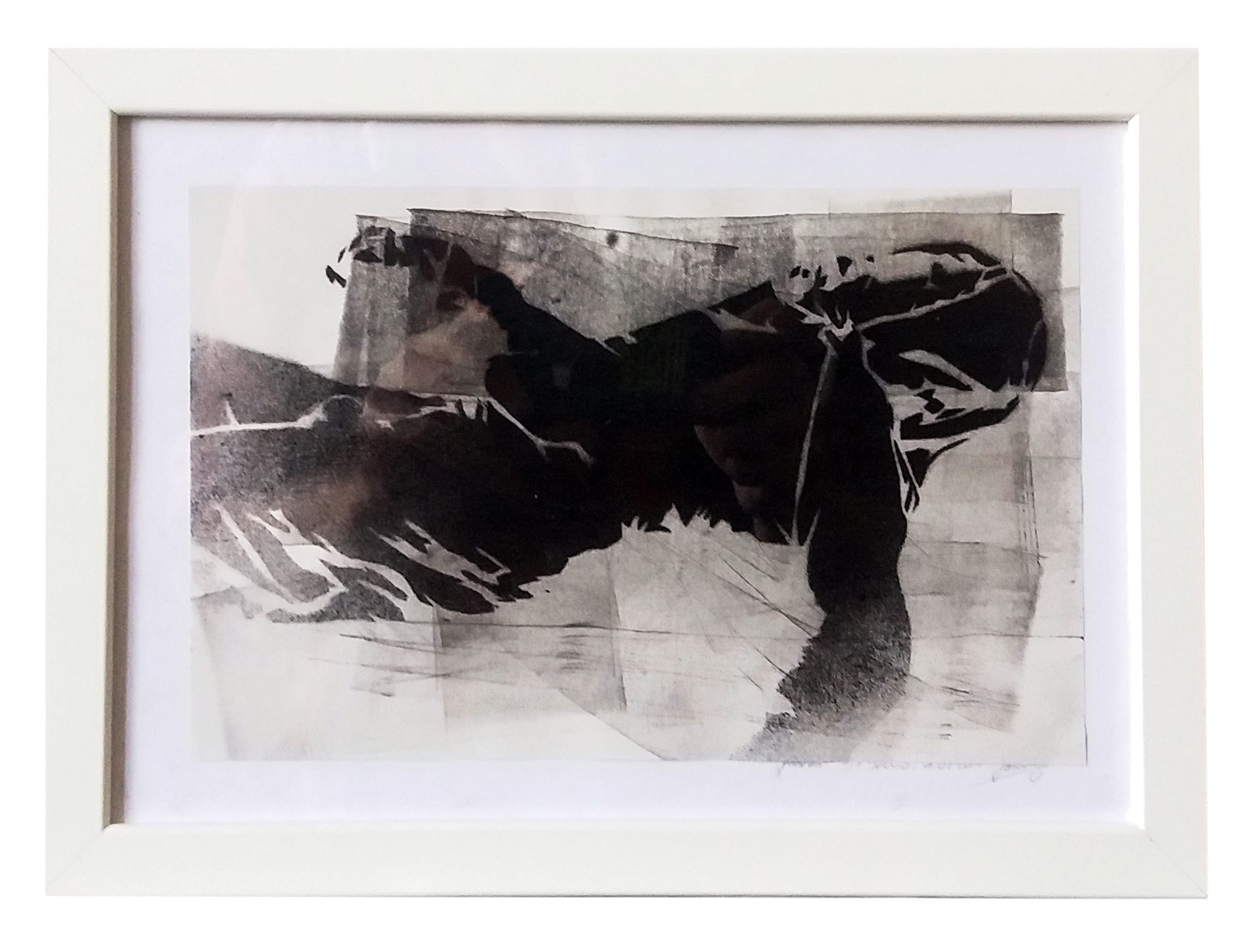 John Dot S regeneration-framed-24x33cm-ink on paper