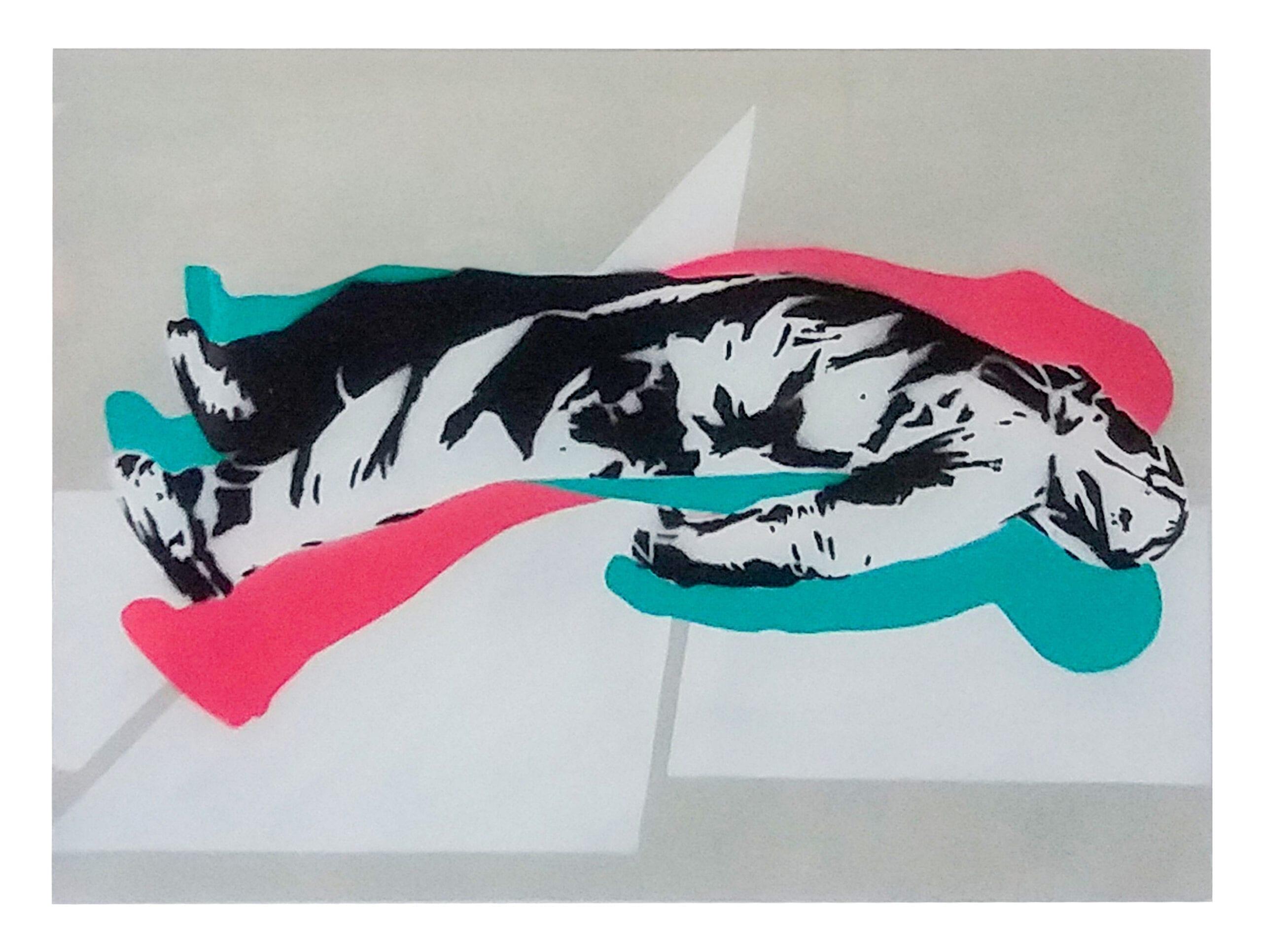 John Dot S sens-limited edition of 30(28buc)-35x50cm-spray on paper