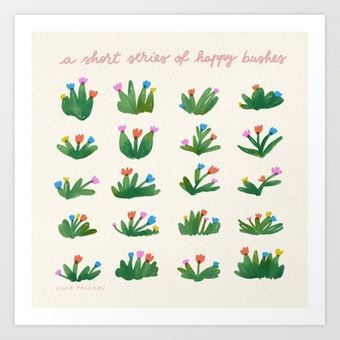 types-of-bushes-prints LIvia Falcaru