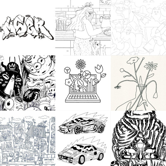 2020 Sketches by artists