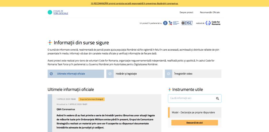Q&A Coronavirus stirioficiale.ro: Grupul de Comunicare Strategică a răspuns documentat întrebărilor adresate de jurnaliști și cetățeni |
