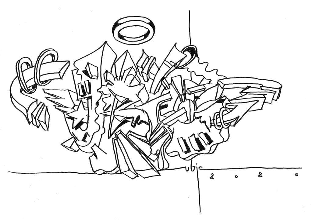 uBIc sketch 2020 graffiti