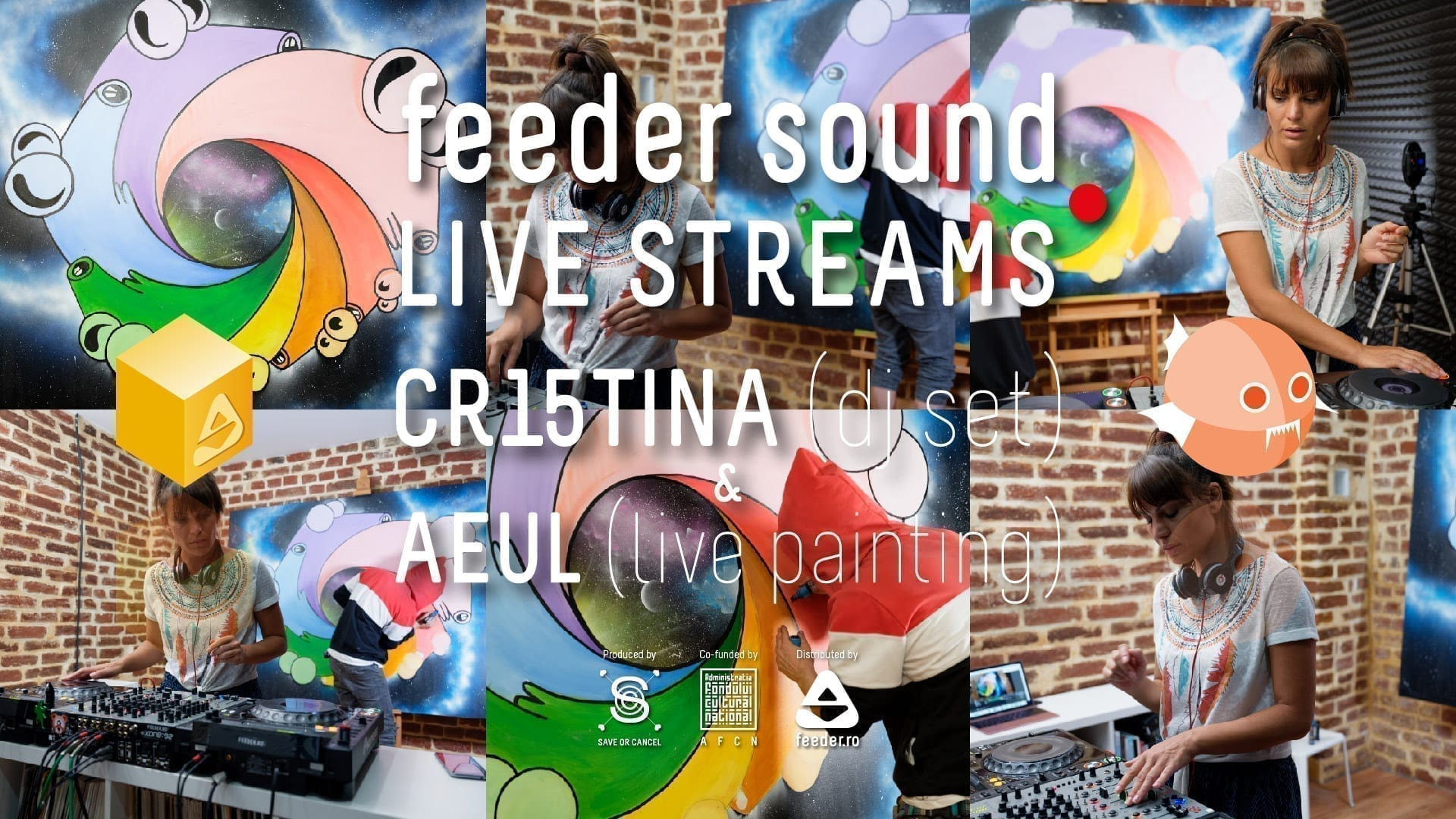 feeder sound LIVE STREAMS with CR15TINA (dj set) & AEUL (live painting)