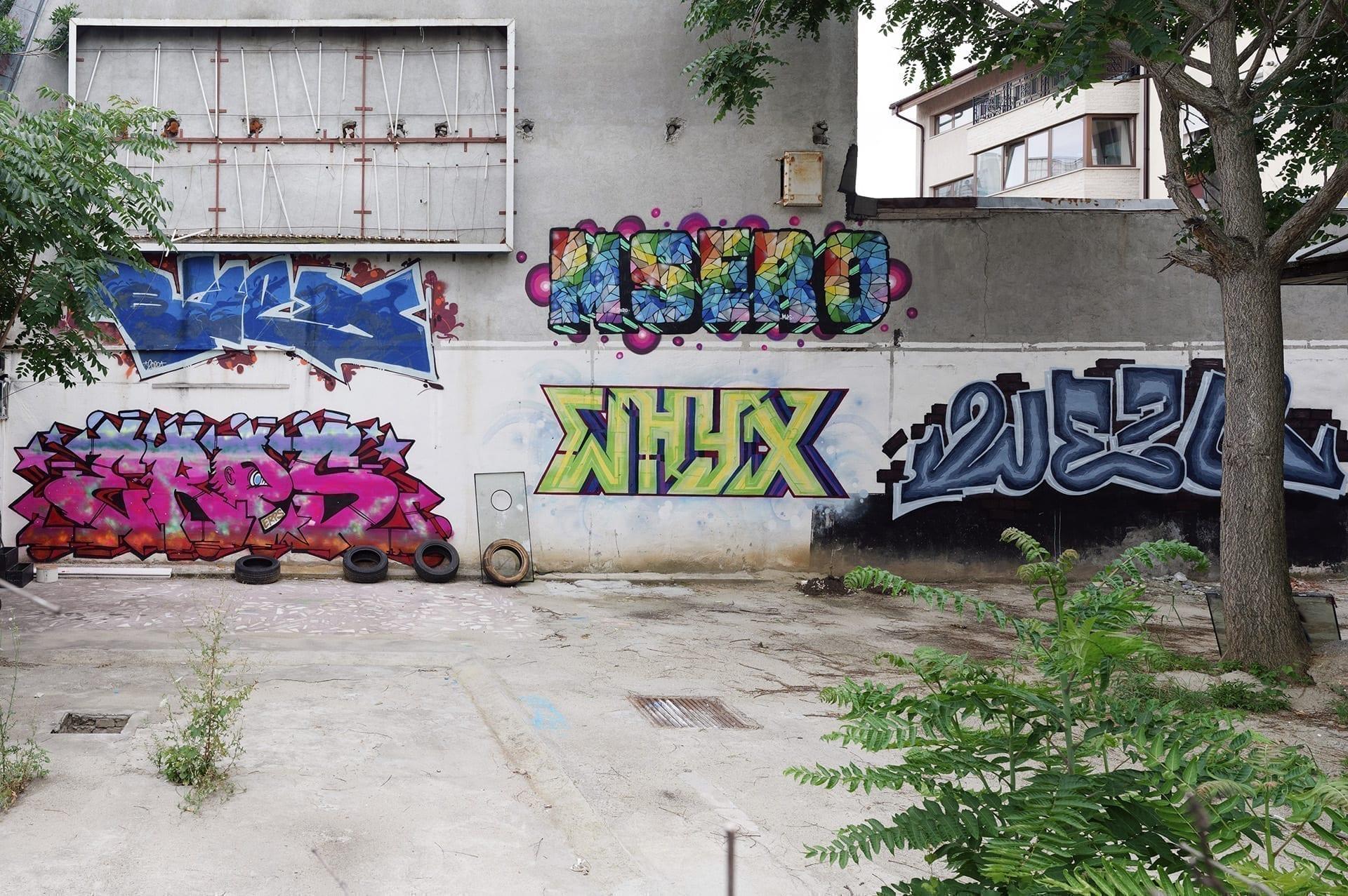 Biex, MSERO, ERPS, WHYX, WEZO graffiti Bucharest, Calea Floreasa 2020