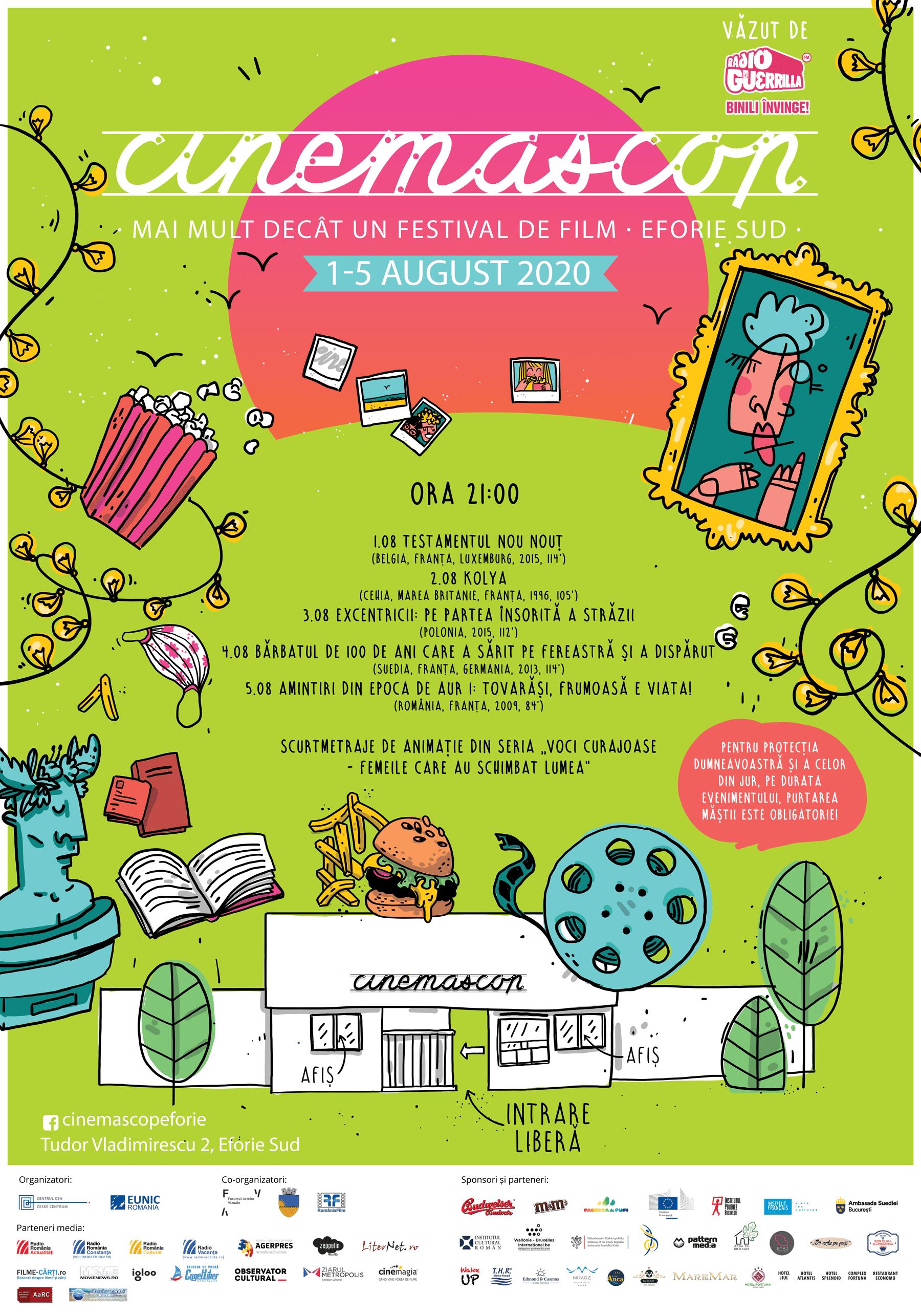 Festivalul Cinemascop se întoarce în perioada 1-5 august!